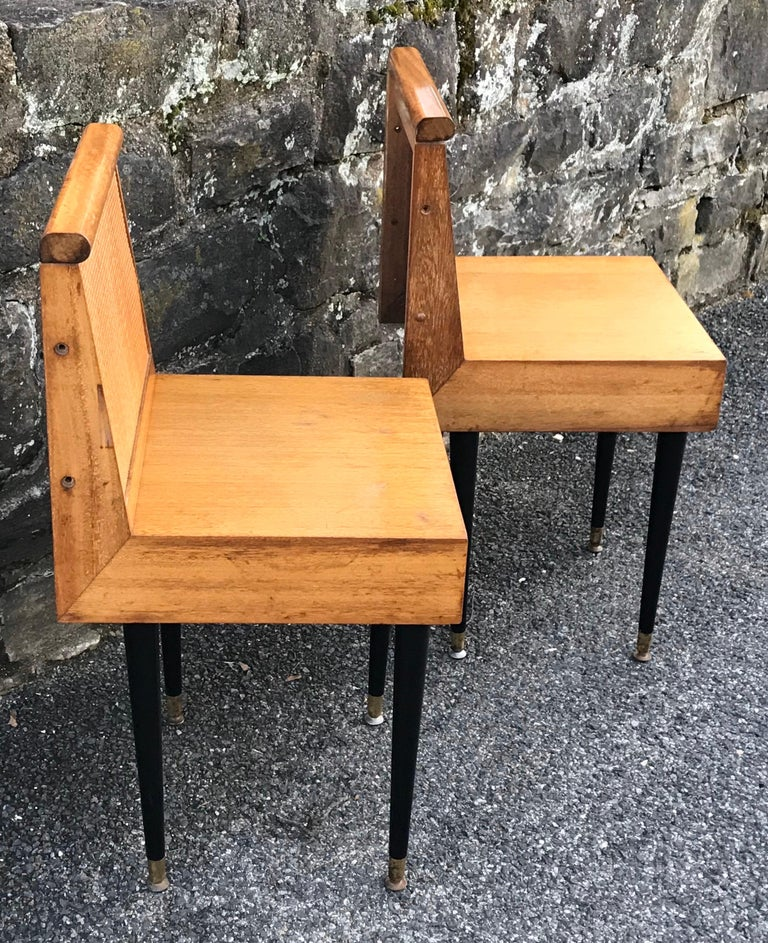 Bleached Mid-Century Modern Nightstands by John Keal for Brown Saltman, 1950s For Sale