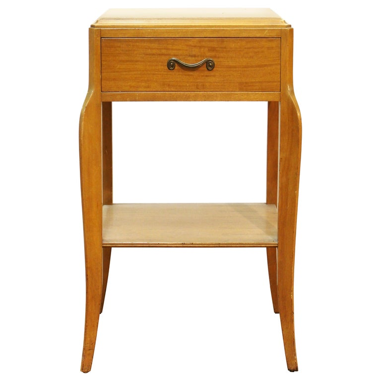Mid-Century Modern Nightstand Table For Sale