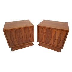 Mid-Century Modern Nightstands, a Pair