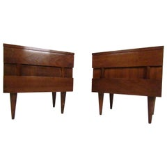 Mid-Century Modern Nightstands by American of Martinsville, a Pair