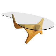 Mid-Century Modern Noguchi Style Biomorphic Glass Coffee Table