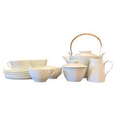 Mid-Century Modern Noritake Japan Coffee / Tea Set for 4 Snowville Porcelain