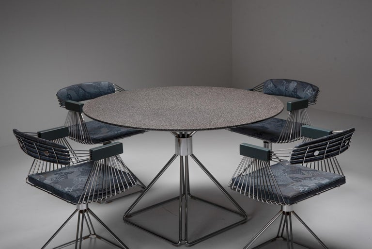 Belgian Mid-Century Modern Novalux Dining Set by Rudi Verelst For Sale