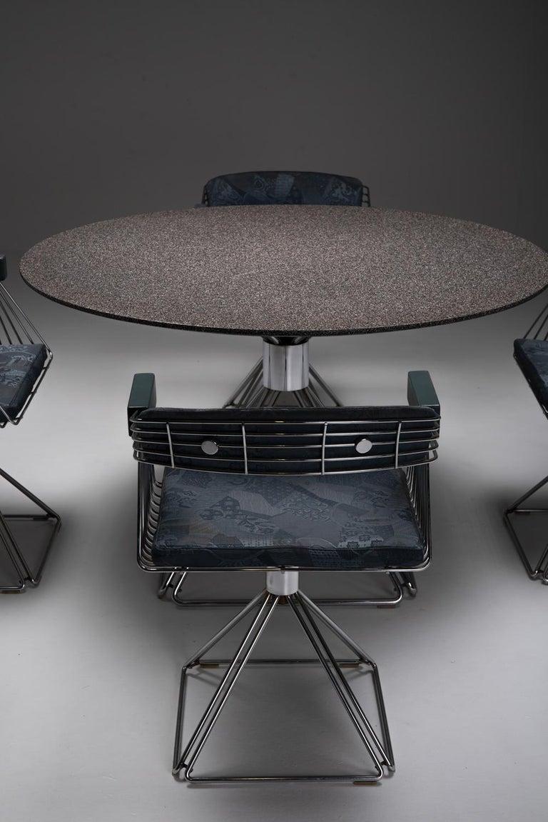 Mid-Century Modern Novalux Dining Set by Rudi Verelst In Good Condition For Sale In Antwerp, BE