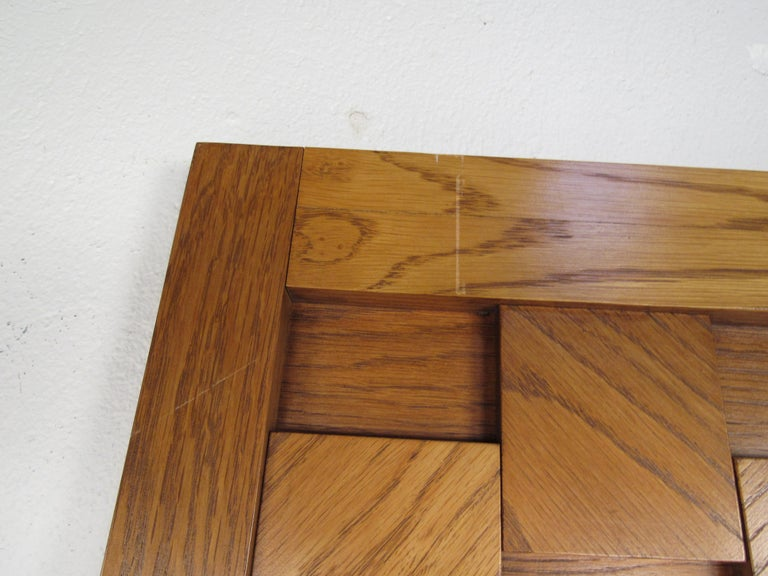Mid-Century Modern Oak Brutalist Dresser by Lane Furniture For Sale 10