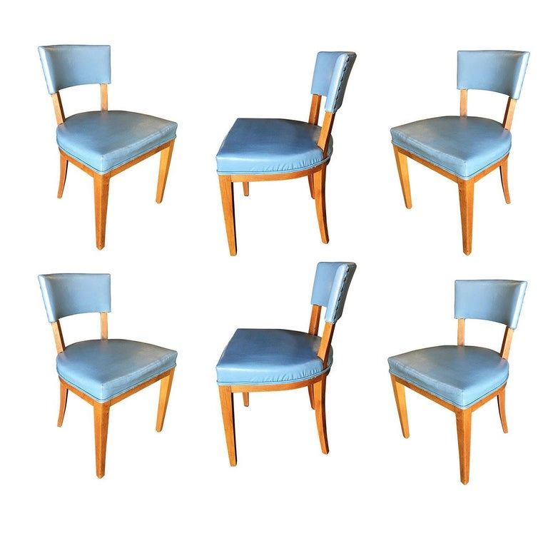 Mid Century Chairs For Sale: Mid-Century Modern Oak Dining Chairs, Set Of Six For Sale