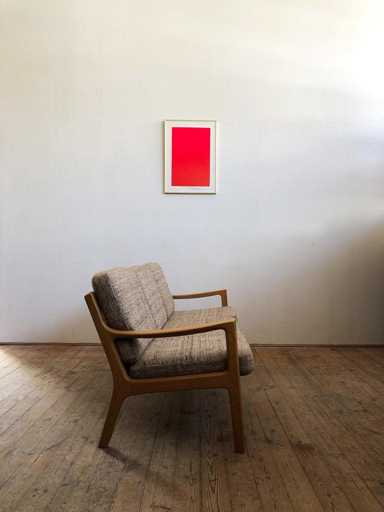 Danish Mid-Century Modern Oak Sofa, Model Senator by Ole Wanscher for Poul Jeppesens For Sale