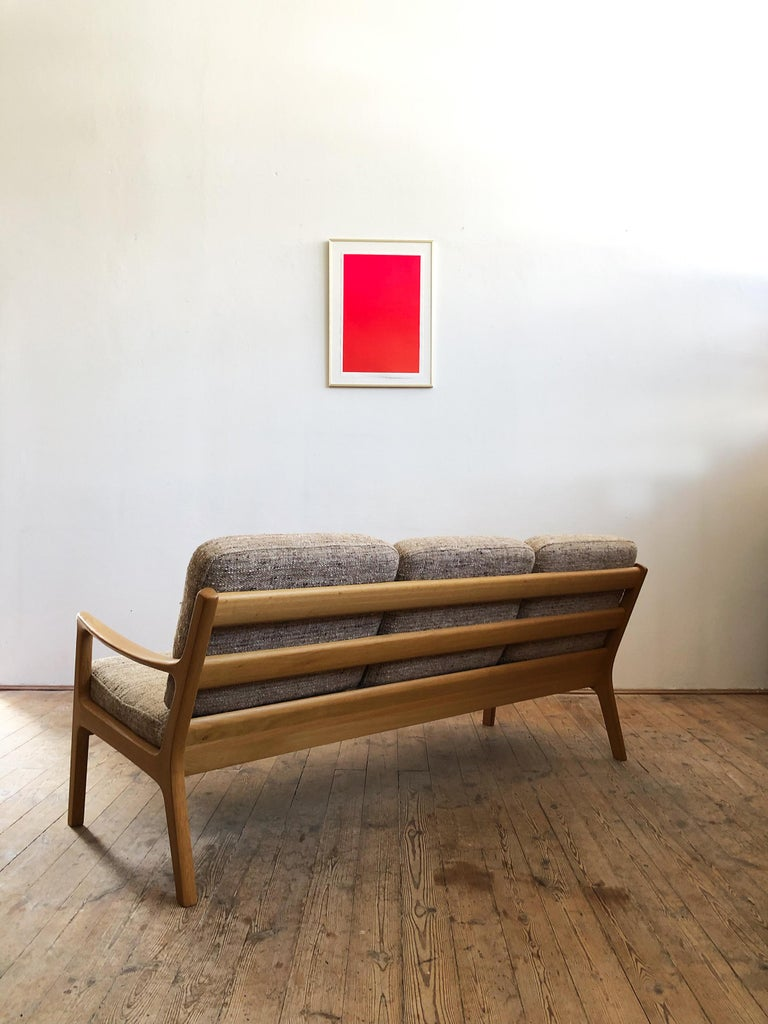 Mid-Century Modern Oak Sofa, Model Senator by Ole Wanscher for Poul Jeppesens In Good Condition For Sale In Munich, Bavaria