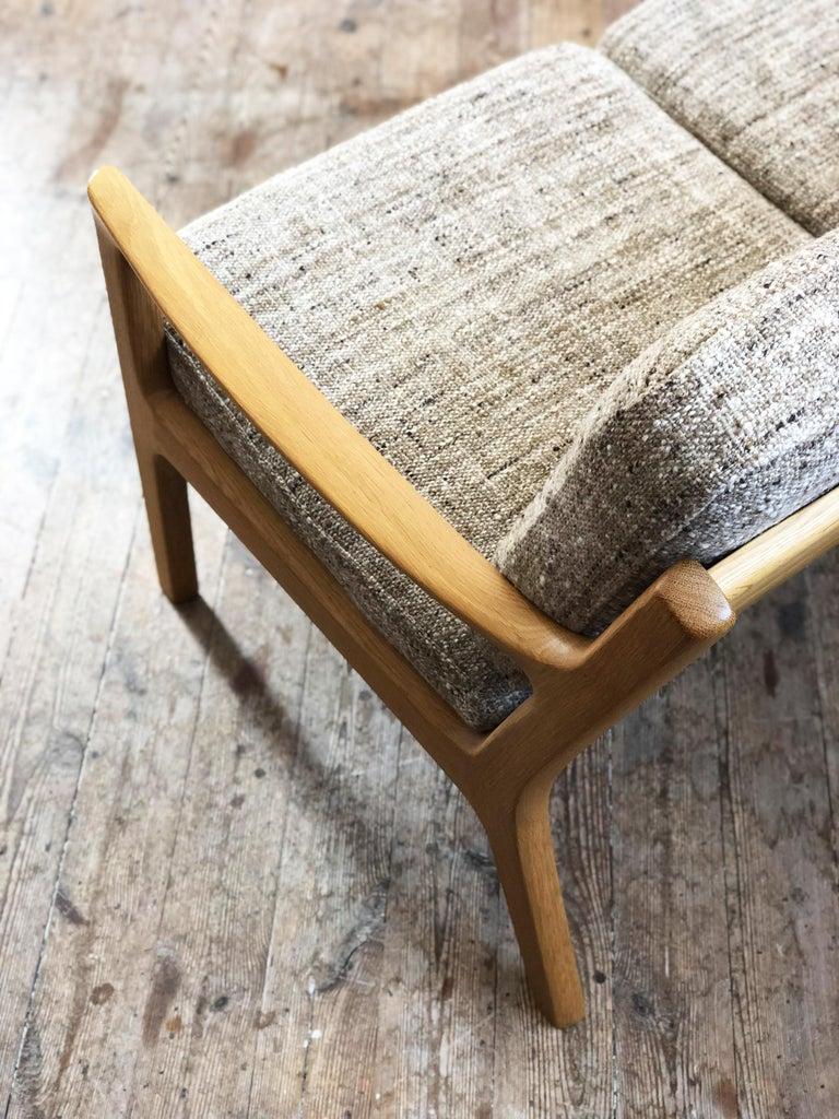 20th Century Mid-Century Modern Oak Sofa, Model Senator by Ole Wanscher for Poul Jeppesens For Sale