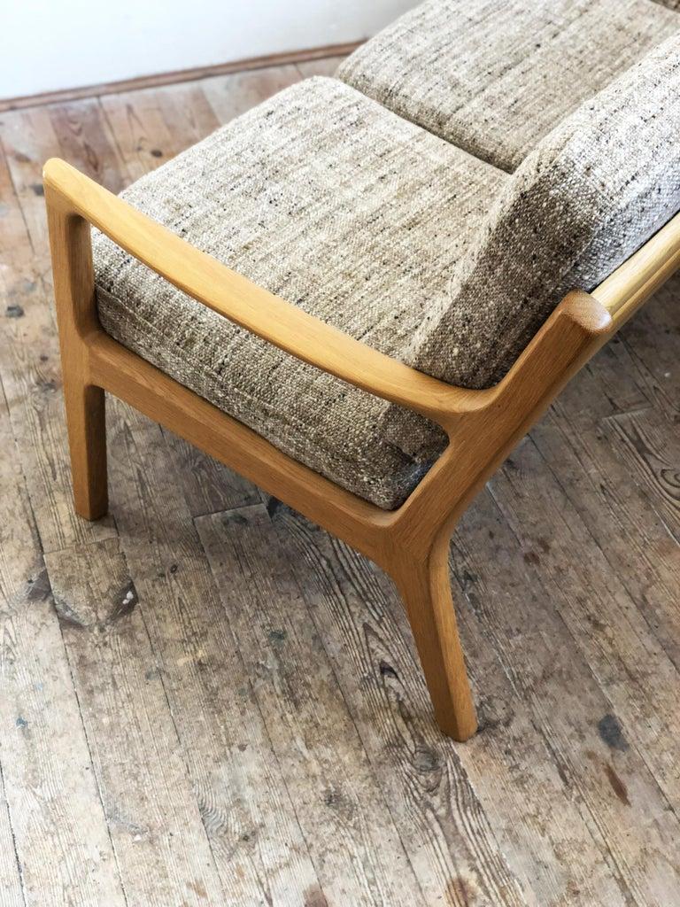 Wool Mid-Century Modern Oak Sofa, Model Senator by Ole Wanscher for Poul Jeppesens For Sale