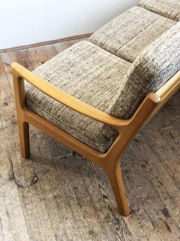 Mid-Century Modern Oak Sofa, Model Senator by Ole Wanscher for Poul Jeppesens For Sale 1
