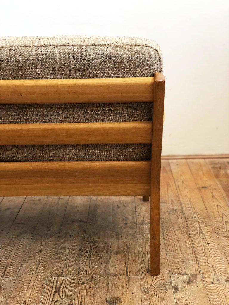 Mid-Century Modern Oak Sofa, Model Senator by Ole Wanscher for Poul Jeppesens For Sale 3