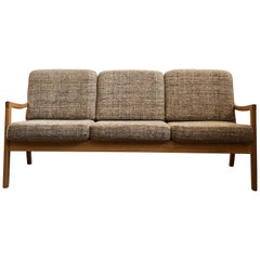 Mid-Century Modern Oak Sofa, Model Senator by Ole Wanscher for Poul Jeppesens