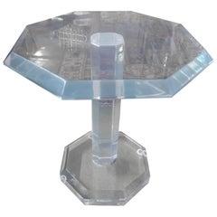 Mid-Century Modern Octagonal Acrylic Table