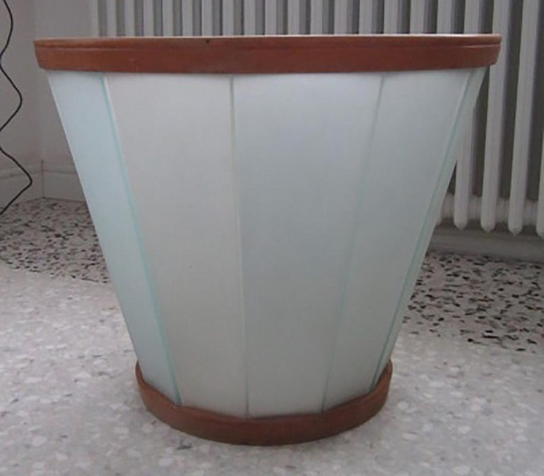 Italian Mid-Century Modern Octagonal Glass Low Table with Round Top, Milano, 1940s For Sale
