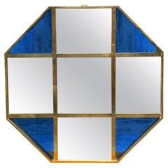 Mid-Century Modern Octagonal Oversize Wall Mirror, Italy, 1970