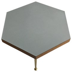Mid-Century Modern Octagonal Side Table With Formica Top, Austria 1950