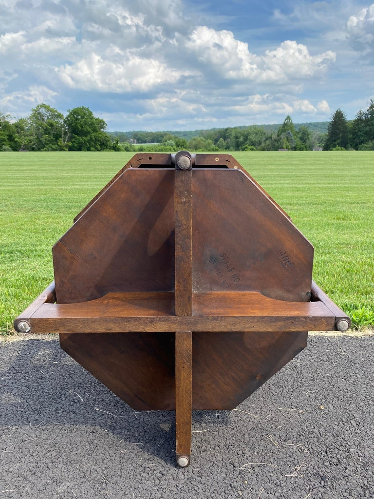 Mid-Century Modern Octagonal Two Tiered Side End Table Adrian Pearsall for Lane For Sale 6