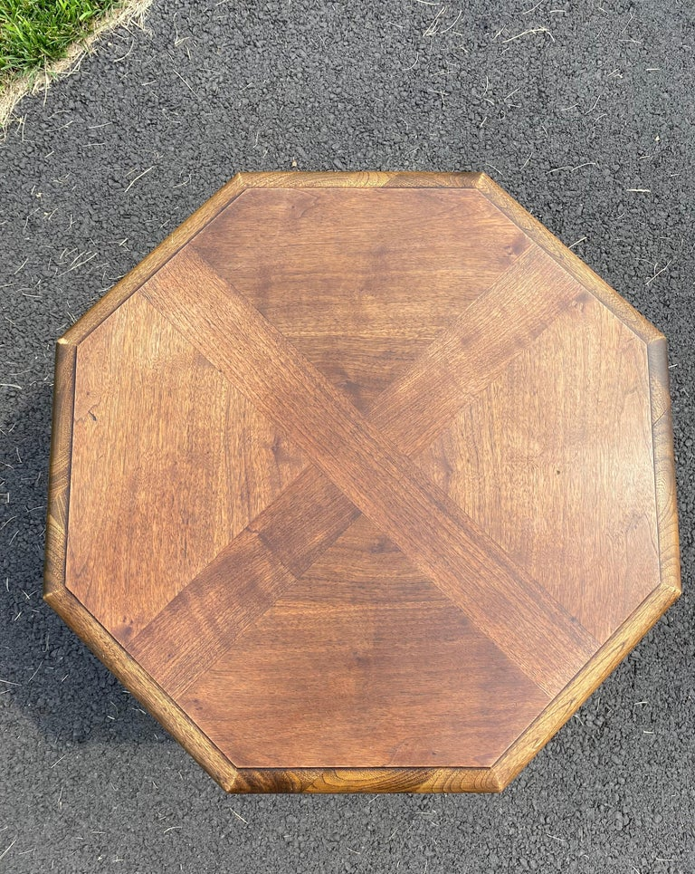 Mid-Century Modern Octagonal Two Tiered Side End Table Adrian Pearsall for Lane For Sale 4