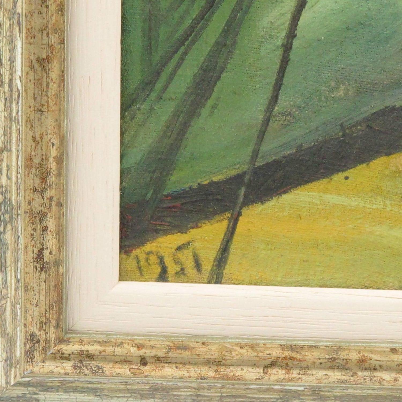 J. Blot France Mid-Century Modern Oil on Canvas Painting 1951 Spider ...