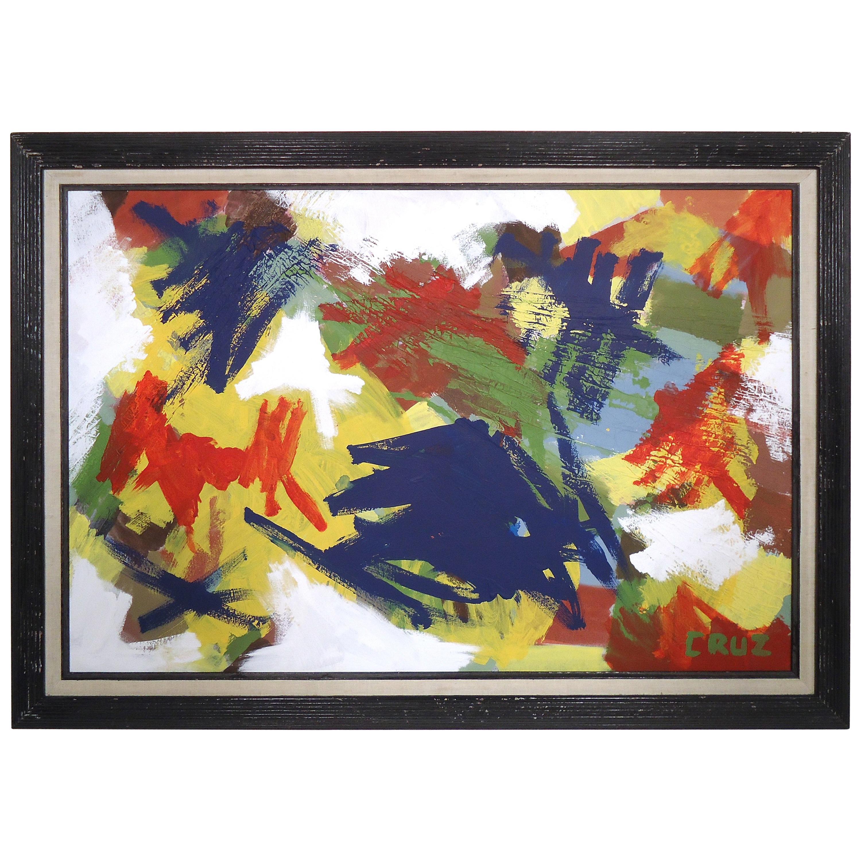 Mid-Century Modern Oil Painting