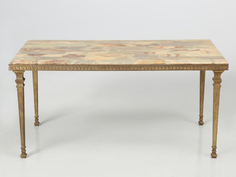French Mid-Century Modern Onyx Coffee Table from France For Sale