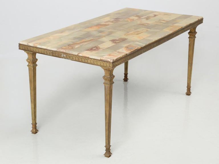 Machine-Made Mid-Century Modern Onyx Coffee Table from France For Sale