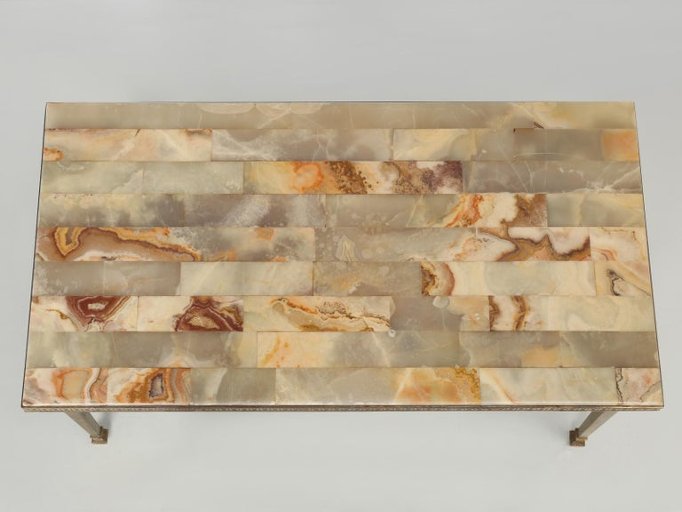 Mid-20th Century Mid-Century Modern Onyx Coffee Table from France For Sale
