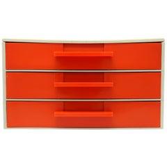 Mid-Century Modern Orange Modular Desk Organizer