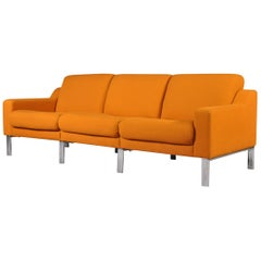 Mid-Century Modern Orange Three-Seater Sofa, 1980s