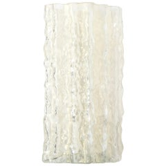 Mid-Century Modern Organic Textural Semi Translucent Murano Glass Vase