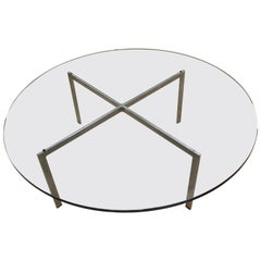 Mid-Century Modern Original Mies van der Rohe Round Barcelona Coffee Table