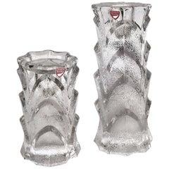 Mid-Century Modern Orrefors Crystal Candleholders