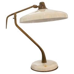 Mid-Century Modern Oscar Torlasco Desk Lamp, Italy, 1950