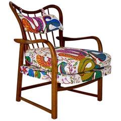 Mid-Century Modern Oswald Haerdtl Attributed Vintage Walnut Lounge Chair, 1950
