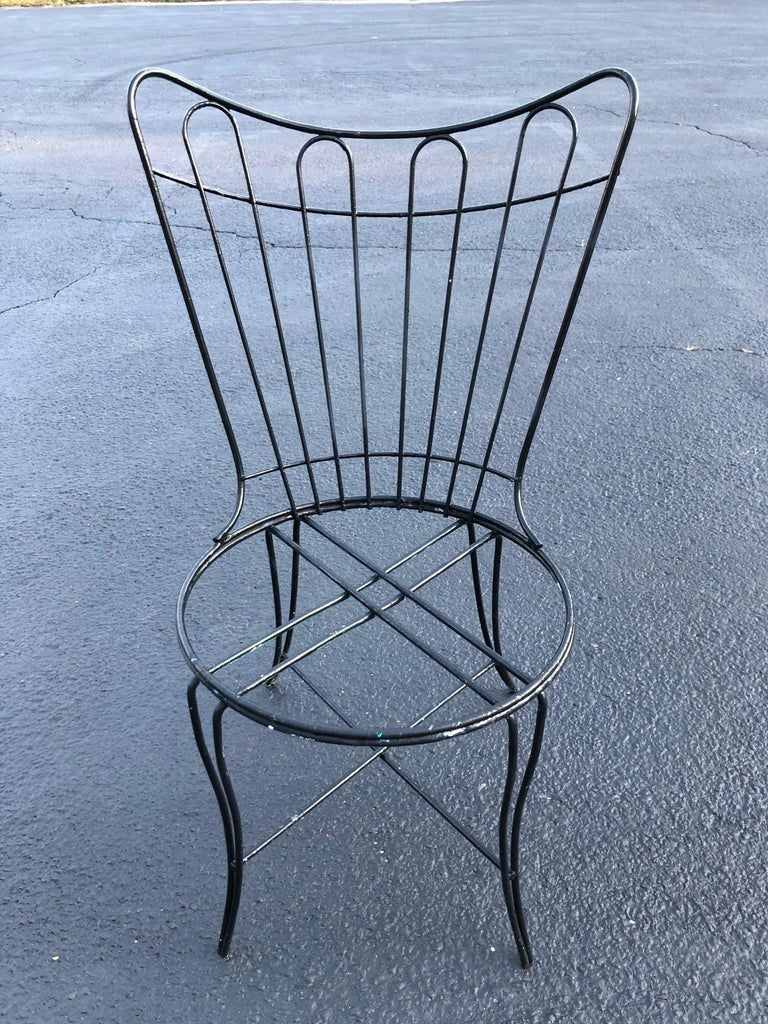 """Painted Mid-Century Modern """"Homecrest"""" Outdoor Patio Chair For Sale"""