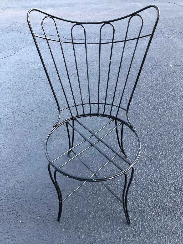 """Mid-Century Modern """"Homecrest"""" Outdoor Patio Chair In Good Condition For Sale In Redding, CT"""