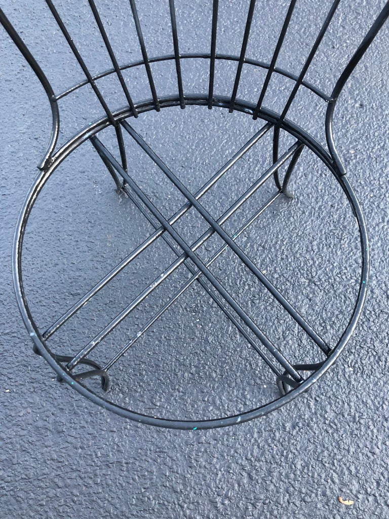 "Iron Mid-Century Modern ""Homecrest"" Outdoor Patio Chair For Sale"