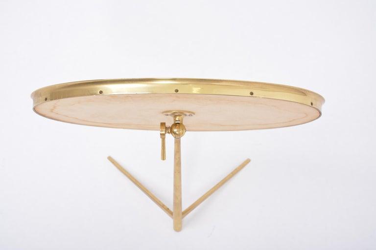 Mid-Century Modern Oval Brass Table Mirror by Vereinigte Werkstätten For Sale 6