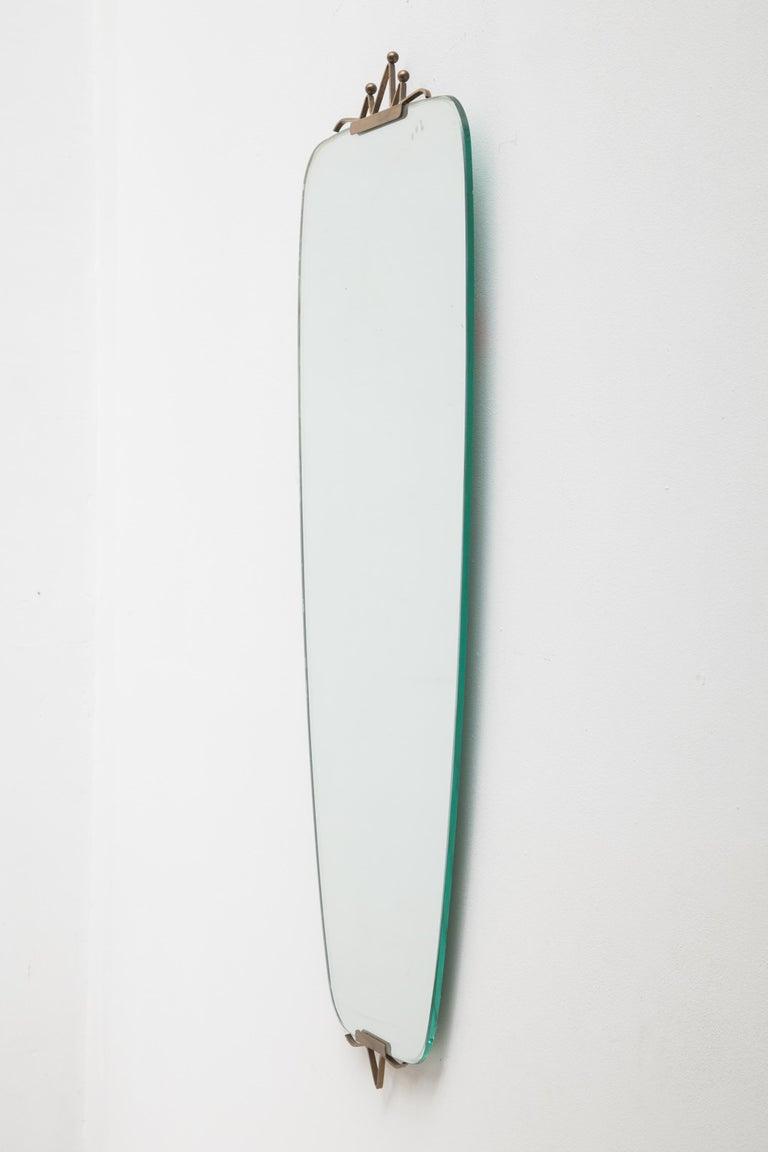 Mid-Century Modern Oval Ellipse Brass Wall Mirror, 1950s 4