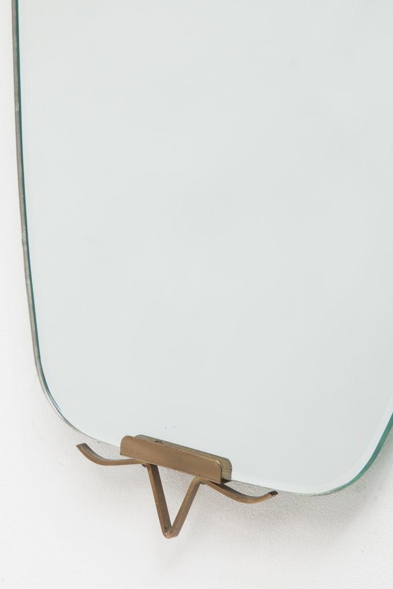 Mid-Century Modern Oval Ellipse Brass Wall Mirror, 1950s 5