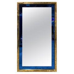 Mid-Century Modern Oversize Squre Italian Mirror, Italy, 1970