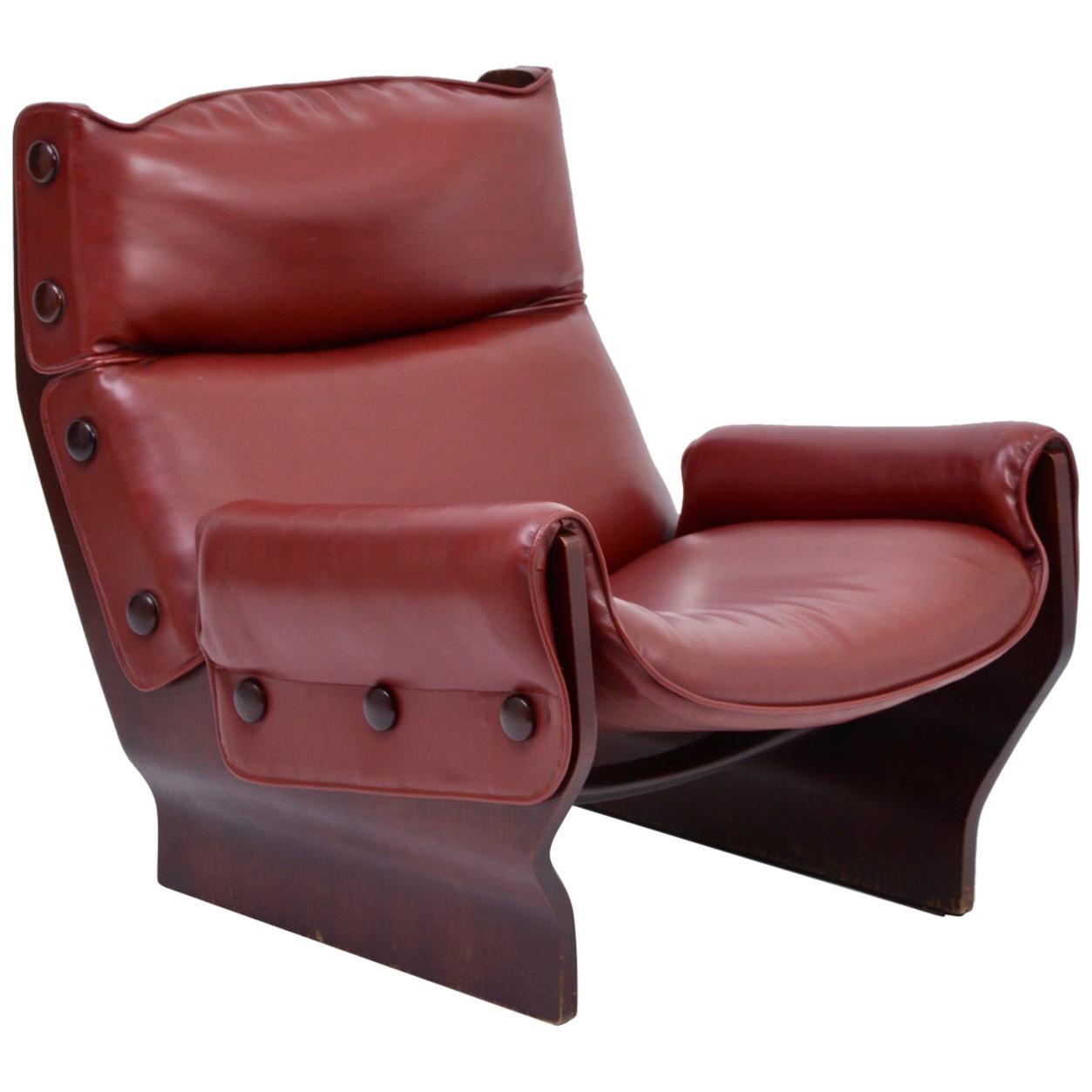 Mid-Century Modern P110 'Canada' Lounge Chair by Osvaldo Borsani for Tecno