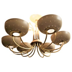 Mid-Century Modern Paavo Tynell Attributed Six Cup Chandelier or Light Fixture