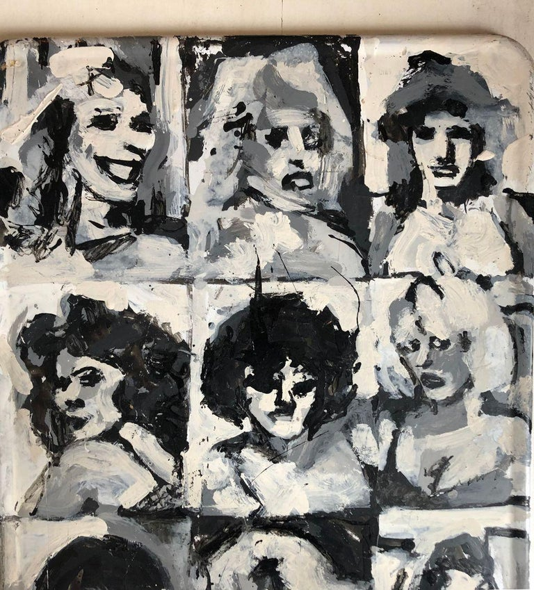 Brought to us by a Lady who tells a story about her mother visiting a particular artist in Central Park most weekends where this piece was purchased. The unknown New York artist apparently would do these portraits of interesting people. The story