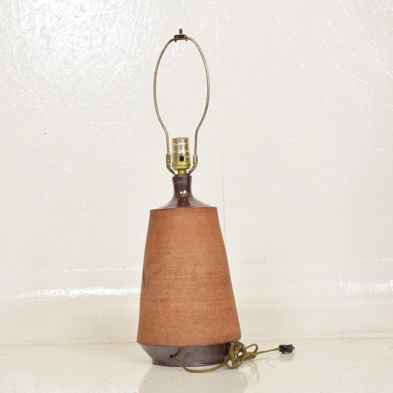 Mid-Century Modern Pair of Ceramic Table Lamps by Wishon Harrell For Sale 3