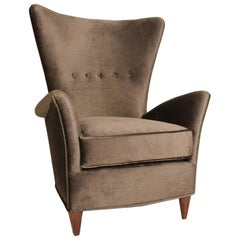 Mid-Century Moderne, ein Paar Sessel von Gio Ponti für Bristol Hotel in Meran