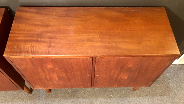 Mid-Century Modern Pair of Cabinets, Nightstand or Commodes Gjovik Mobelfabriken For Sale 8