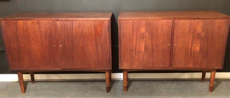 Mid-20th Century Mid-Century Modern Pair of Cabinets, Nightstand or Commodes Gjovik Mobelfabriken For Sale
