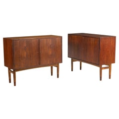 Mid-Century Modern Pair of Cabinets, Nightstand or Commodes Gjovik Mobelfabriken